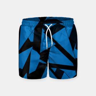 Thumbnail image of 3D Broken Glass III Swim Shorts, Live Heroes