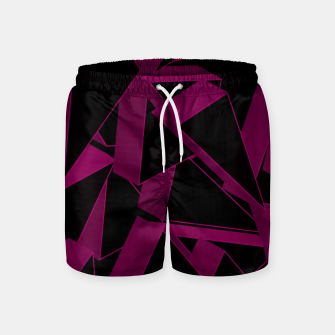 Thumbnail image of 3D Broken Glass VII Swim Shorts, Live Heroes