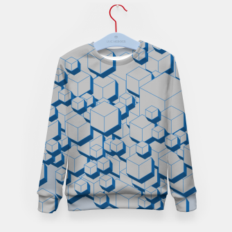 Thumbnail image of 3D Futuristic Cubes II Kid's sweater, Live Heroes