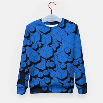 Thumbnail image of 3D Futuristic Cubes  Kid's sweater, Live Heroes