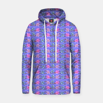 Thumbnail image of Ultra Violet Stripes with Flowers Cotton hoodie, Live Heroes