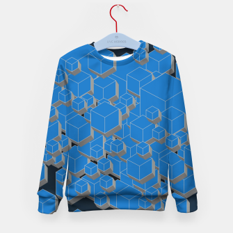 Thumbnail image of 3D Futuristic Cubes VII Kid's sweater, Live Heroes