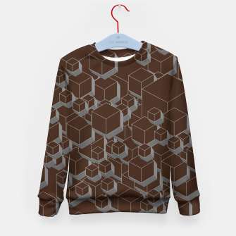 Thumbnail image of 3D Futuristic Cubes V Kid's sweater, Live Heroes