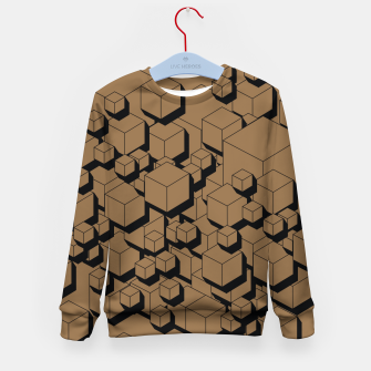 Thumbnail image of 3D Futuristic Cubes X Kid's sweater, Live Heroes