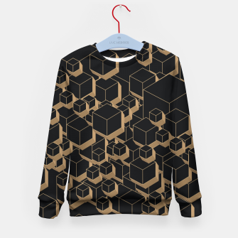 Thumbnail image of 3D Futuristic Cubes IV Kid's sweater, Live Heroes