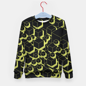 Thumbnail image of 3D Futuristic Cubes VIII Kid's sweater, Live Heroes