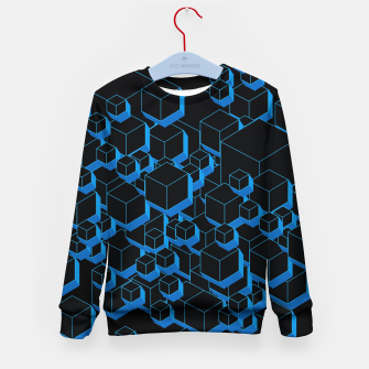 Thumbnail image of 3D Futuristic Cubes III Kid's sweater, Live Heroes