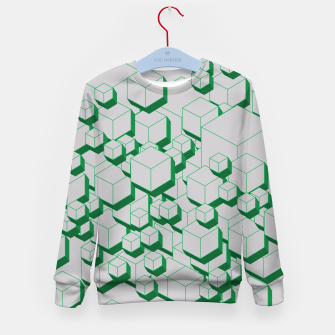 Thumbnail image of 3D Futuristic Cubes XIII Kid's sweater, Live Heroes
