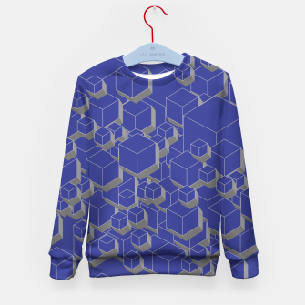 Thumbnail image of 3D Futuristic Cubes XII Kid's sweater, Live Heroes