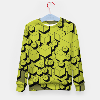 Thumbnail image of 3D Futuristic Cubes VI Kid's sweater, Live Heroes