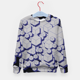 Thumbnail image of 3D Futuristic Cubes XV Kid's sweater, Live Heroes