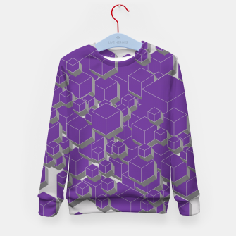 Thumbnail image of 3D Futuristic Cubes XIV Kid's sweater, Live Heroes
