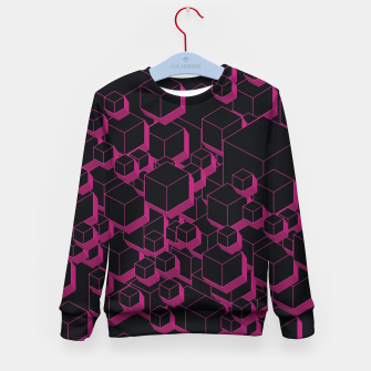 Thumbnail image of 3D Futuristic Cubes XVII Kid's sweater, Live Heroes