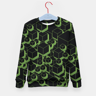 Thumbnail image of 3D Futuristic Cubes XI Kid's sweater, Live Heroes
