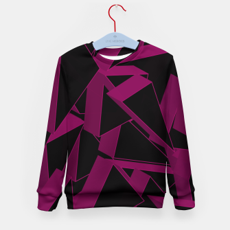 Thumbnail image of 3D Broken Glass VII Kid's sweater, Live Heroes