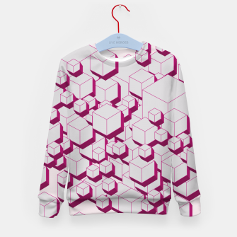 Thumbnail image of 3D Futuristic Cubes XVIII Kid's sweater, Live Heroes