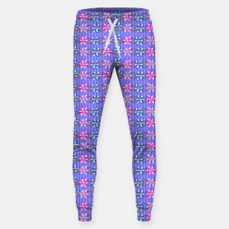 Thumbnail image of Ultra Violet Stripes with Flowers Cotton sweatpants, Live Heroes