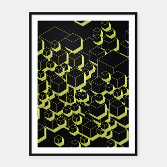 Thumbnail image of 3D Futuristic Cubes VIII Framed poster, Live Heroes