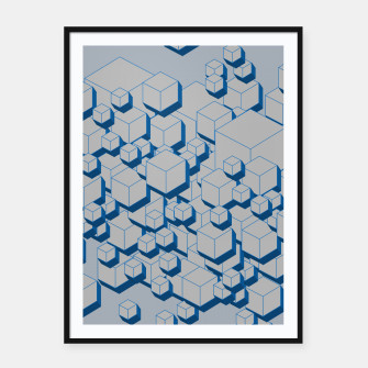 Thumbnail image of 3D Futuristic Cubes II Framed poster, Live Heroes