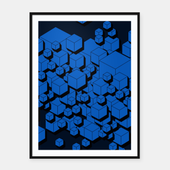 Thumbnail image of 3D Futuristic Cubes  Framed poster, Live Heroes