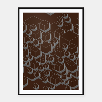 Thumbnail image of 3D Futuristic Cubes V Framed poster, Live Heroes