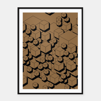 Thumbnail image of 3D Futuristic Cubes X Framed poster, Live Heroes