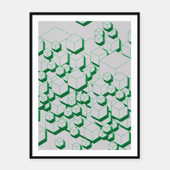 Thumbnail image of 3D Futuristic Cubes XIII Framed poster, Live Heroes