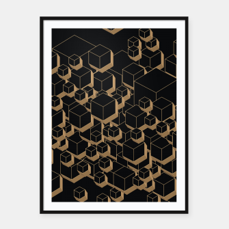 Thumbnail image of 3D Futuristic Cubes IV Framed poster, Live Heroes