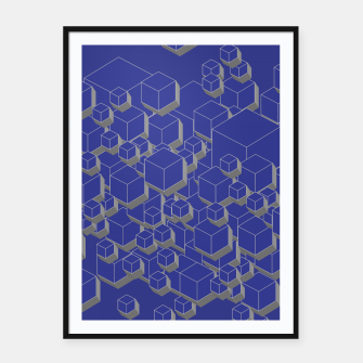 Thumbnail image of 3D Futuristic Cubes XII Framed poster, Live Heroes