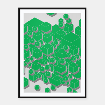 Thumbnail image of 3D Futuristic Cubes IX Framed poster, Live Heroes