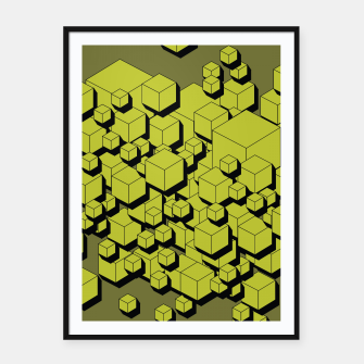 Thumbnail image of 3D Futuristic Cubes VI Framed poster, Live Heroes