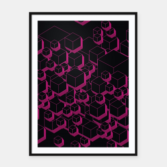 Thumbnail image of 3D Futuristic Cubes XVII Framed poster, Live Heroes
