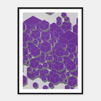 Thumbnail image of 3D Futuristic Cubes XIV Framed poster, Live Heroes