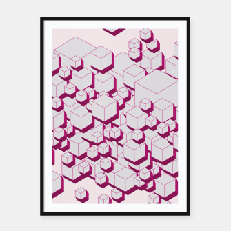 Thumbnail image of 3D Futuristic Cubes XVIII Framed poster, Live Heroes