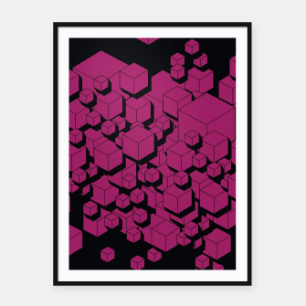 Thumbnail image of 3D Futuristic Cubes XVI Framed poster, Live Heroes