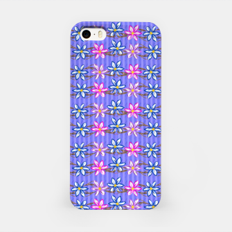 Thumbnail image of Ultra Violet Stripes with Flowers iPhone Case, Live Heroes