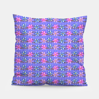 Thumbnail image of Ultra Violet Stripes with Flowers Pillow, Live Heroes