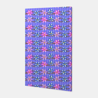 Thumbnail image of Ultra Violet Stripes with Flowers Canvas, Live Heroes