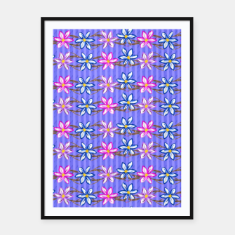 Thumbnail image of Ultra Violet Stripes with Flowers Framed poster, Live Heroes