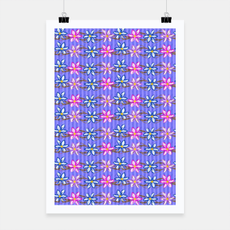 Thumbnail image of Ultra Violet Stripes with Flowers Poster, Live Heroes
