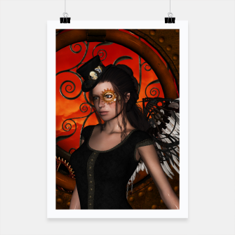 Miniatur Wonderful steampunk lady with wings Poster, Live Heroes