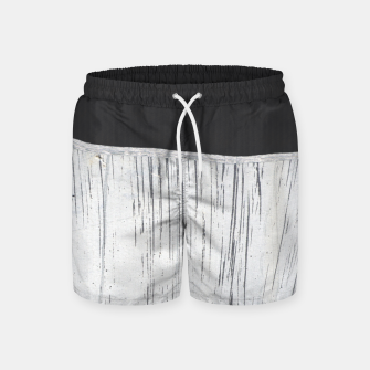 Thumbnail image of Charcoal Grey White Scratch Plaster Industrial Pattern Swim Shorts, Live Heroes