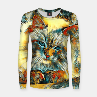 Thumbnail image of AnimalArt_Cat_20170907_by_JAMColors Woman cotton sweater, Live Heroes
