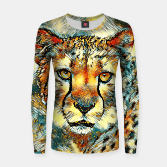 Thumbnail image of AnimalArt_Cheetah_20170604_by_JAMColors Woman cotton sweater, Live Heroes