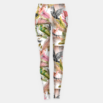 Paradise in the pink jungle 2 Leggings Bild der Miniatur