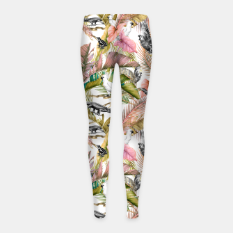 Paradise in the pink jungle 2 Leggings para niña Bild der Miniatur
