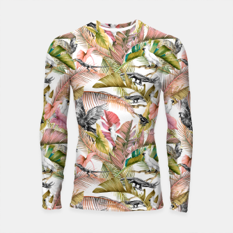 Paradise in the pink jungle 2 Longsleeve rashguard Bild der Miniatur
