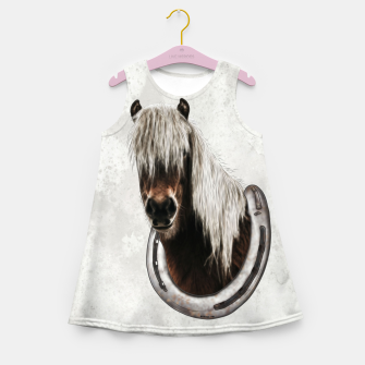 Thumbnail image of Pony Portrait - Graphic Style Mädchen-Sommerkleid, Live Heroes