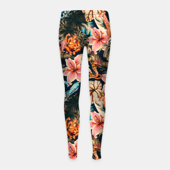 Miniaturka Wild animals in the dark of the jungle 2 Leggings para niña, Live Heroes