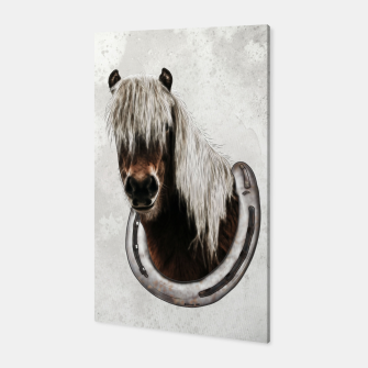 Thumbnail image of Pony Portrait - Graphic Style Canvas, Live Heroes